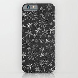 Black Snowflakes iPhone Case
