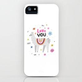 Love you lama iPhone Case