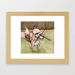 Violin Fox Framed Art Print