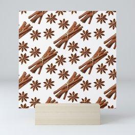 Cinnamon sticks and star anise. Mini Art Print