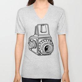 Medium Format SLR Camera Drawing Unisex V-Neck