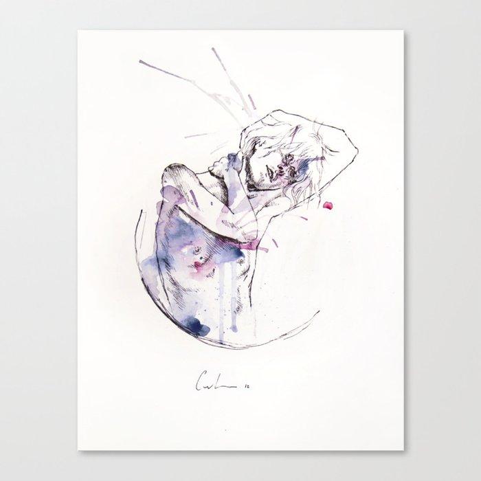 circles - con occhi porpora Canvas Print