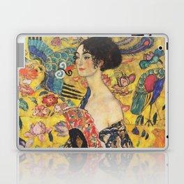 Gustav Klimt Lady With Fan  Art Nouveau Painting Laptop & iPad Skin