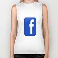 facebook Biker Tanks featuring FACEBOOK  by I Love Decor