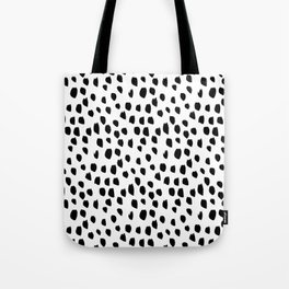 Hand drawn drops and dots on white - Mix & Match with Simplicty of life Tote Bag