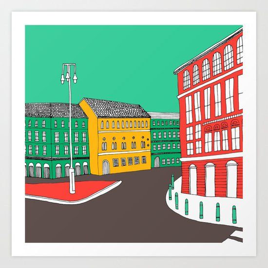 City Life // European Architecture Art Print