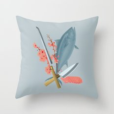sushi chef Throw Pillow