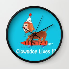 clowndog Wall Clock