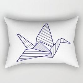 Swan, navy lines Rectangular Pillow