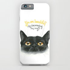 Black - Cat Slim Case iPhone 6s