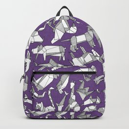 origami animal ditsy purple Backpack