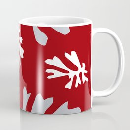 Matisse Silver & Red Holiday Leaves Coffee Mug