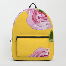 Watercolor Rose Backpack