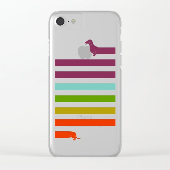 (Very) Long Dachshund Clear iPhone Case