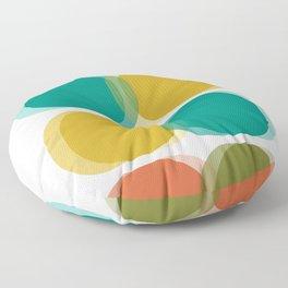 Mid Century Abstract Floor Pillow