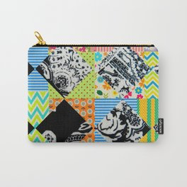 Black & Colorful Patchwork Carry-All Pouch