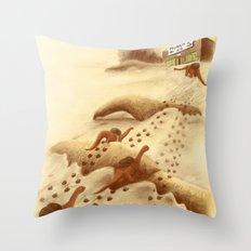 Dinosaur Migration Throw Pillow