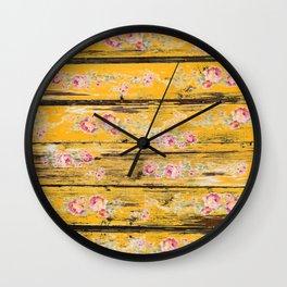 Roccoco fleur Golden Wall Clock