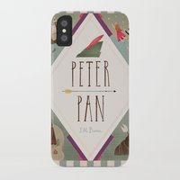 peter pan iPhone & iPod Cases featuring Peter Pan by emilydove