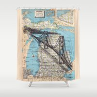 michigan Shower Curtains featuring Michigan by Ursula Rodgers