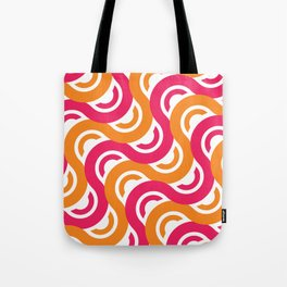refresh curves and waves geometric pattern Tote Bag