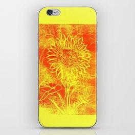 Sunflower Printwork iPhone Skin
