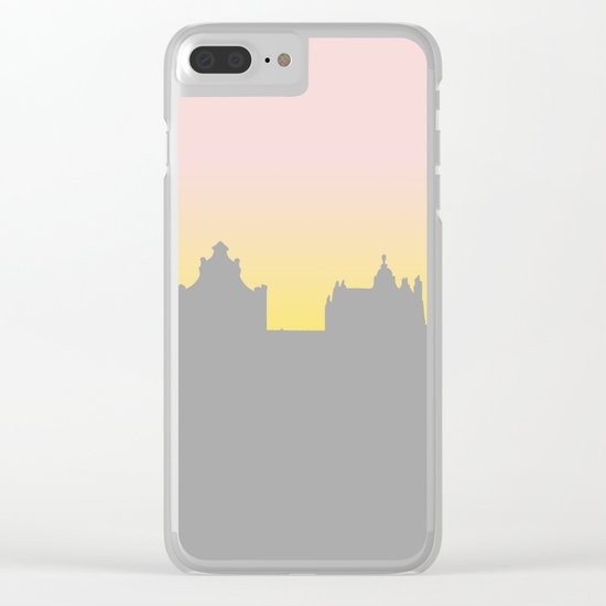 Sunset Cityline Clear iPhone Case