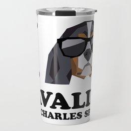 I Love Cavalier King Charles Spaniel modern v1 Travel Mug