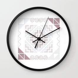 Tribal Hmong Embroidery Wall Clock