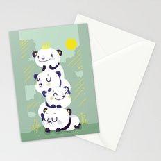 Panda pile Stationery Cards