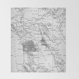Vintage Map of San Francisco California (1905) Throw Blanket