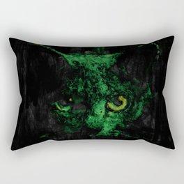 Night Vision Cat Abstract Painting Rectangular Pillow
