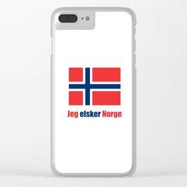 flag of norway 4 snow,scandinavia,scandinavian,norwegian,oslo Clear iPhone Case