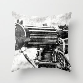 Vickers Machine Gun Vintage Throw Pillow