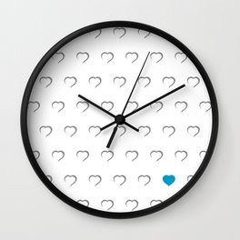 Hearts - Blue Wall Clock