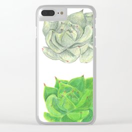 Succulent Growth Clear iPhone Case