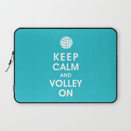 Keep Calm and Volley On (For the Love of Volley Ball) Laptop Sleeve