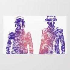 Daft Punk Text Portrait Rug
