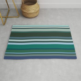 Stripes in colour 9 Rug