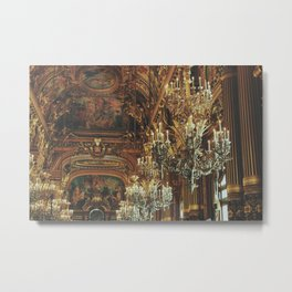 Palais Garnier Chandeliers Metal Print