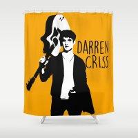 darren criss Shower Curtains featuring Darren Criss with guitar! by byebyesally