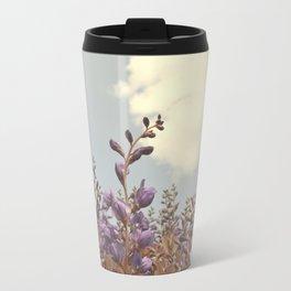 Purple Floral Horizon Travel Mug