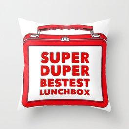 Super Duper Bestest Lunchbox Throw Pillow
