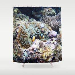 Fish in Sea Anemone Shower Curtain