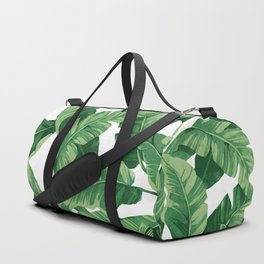 Tropical banana leaves IV Duffle Bag