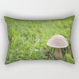 Mushroom in the Morning Dew by Althéa Photo Rectangular Pillow