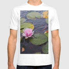 flowers White MEDIUM Mens Fitted Tee