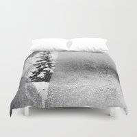 snowboard Duvet Covers featuring Love Snow by suzyoconnor