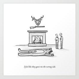 The Wrong Side Art Print