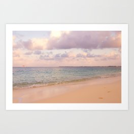 Dreamy Beach View Art Print